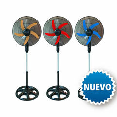 Ventilador Pie Ken Brown 5 Palas