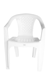 SILLON MAYORCA PLASTICO BLANCO