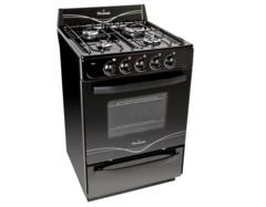 Cocina Multigas Florencia Flor 5517A 4 hornallas 56 cm negra