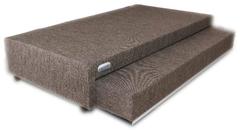 Sommier con colchón Gani Multispace 90 x 190 cm gris oscuro